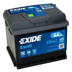 Baterie auto Exide Excell 44Ah EB442
