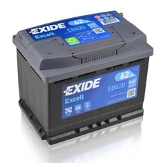 Baterie auto Exide Excell 62Ah EB620